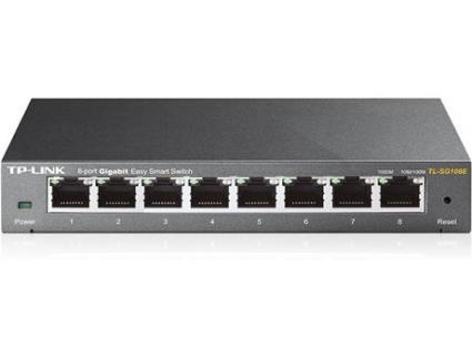 Switch TP-LINK TL-SG108E (8 Portas Gigabit)