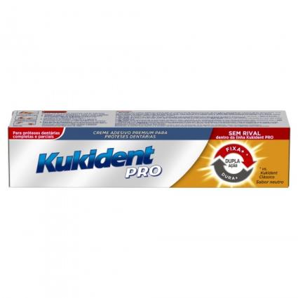 Kukident Pro Creme Dupla Ação Prótese 40g