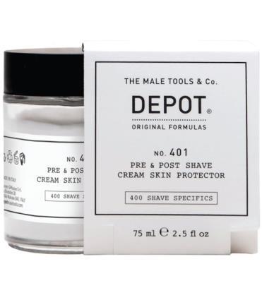 Depot No. 401 Pre - Post Shave Cream Skin Protector 75Ml