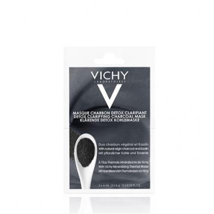 Vichy Máscara de Carvão Detox Purificante 2x6ml