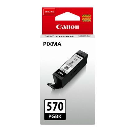 Canon Tinteiro PGI-570PGBK (0372C001) preto, pacote único, de rendimento padrão