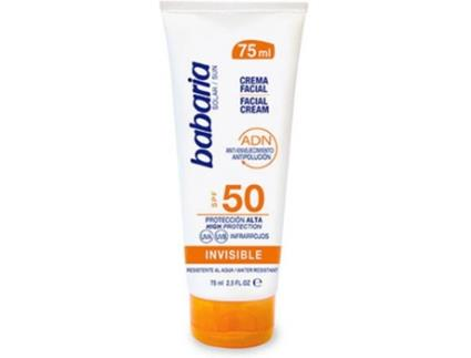 Protetor Solar BABARIA 75 ml Suncream SPF50 Invisível ( 75 ml)
