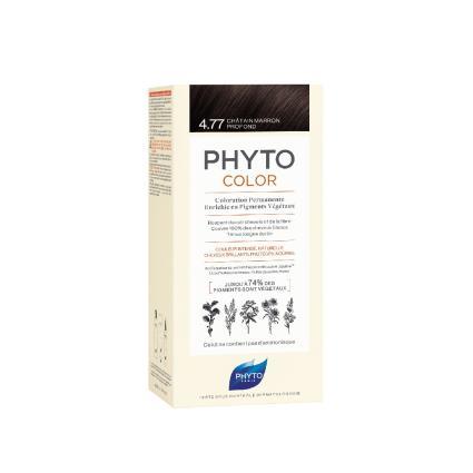 Phyto Color Coloração Permanente 4.77 Castanho Marron Intenso