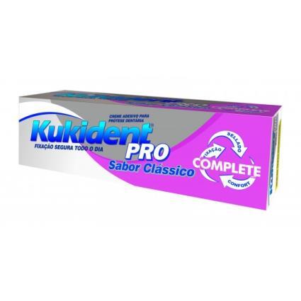 Kukident Pro Complete Creme Prótese Dentária Sabor Clássico 47g