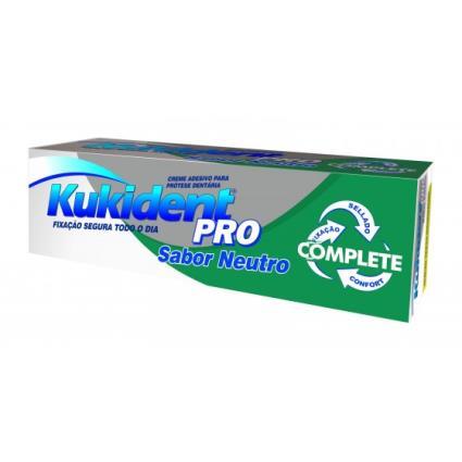 Kukident Creme Prótese Dentário Pro Complete Sabor Neutro 47g