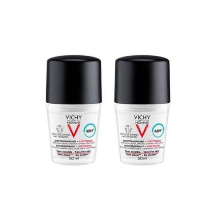 Vichy Homme Deo Roll On Manchas 50ml Duo