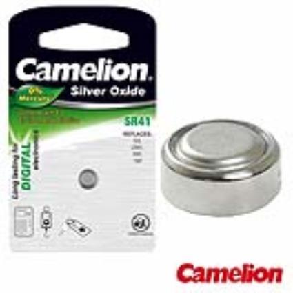 Pilha Botão Sr41 / Lr41 1.55v 40ma Blister Camelion
