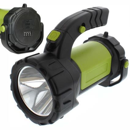 Lanterna 1 Led T6 + Led Cob C/ Alça 350lm