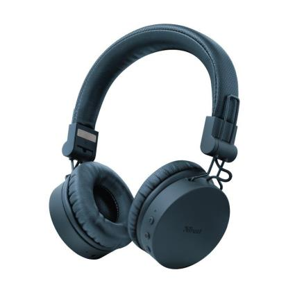 Auscultadores Wireless Trust Tones C/ Bluetooth e Mic Azuis