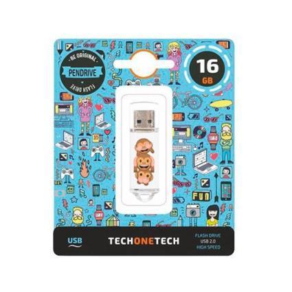 Pen Drive 16GB Tech One Tech No Evil Monkey
