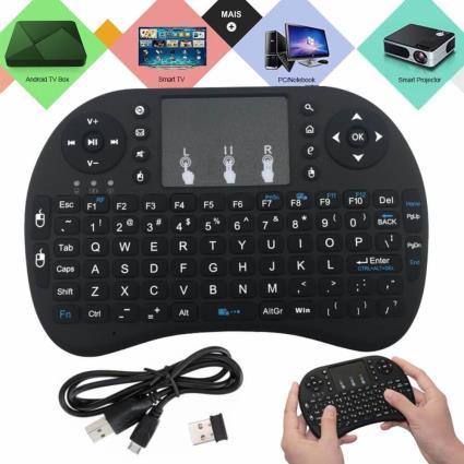 Teclado E Rato Touchpad S/ Fios Usb 2.4ghz