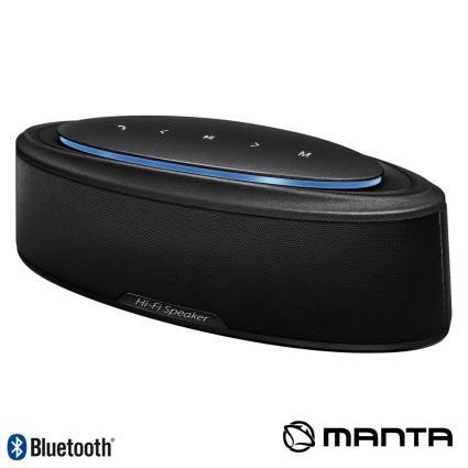 Coluna Bluetooth Portátil 20w Usb/Sd/Aux/Bat Leds Manta