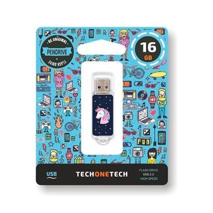 Pen Drive 16Gb Tech One Tech Unicórnio Dream Usb 2.0