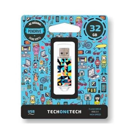 Pendrive 32Gb Tech One Tech Kaleydos