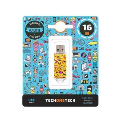 Pen Drive 16GB Tech One Tech Emojis