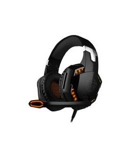 Auricular Gaming Krom Kyus Negro Microfono USB