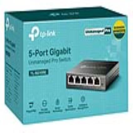 Switch de mesa TP-Link TL-SG105E RJ45 7,4 Mbps Preto