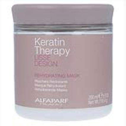 Máscara Capilar Lisse Design Keratin Therapy Alfaparf Milano 8022297056081 Rehydrating (200 ml)