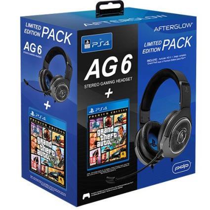 Auscultadores Gaming PDP AfterGlow 6 para PS4 + GTA V Premium Edition