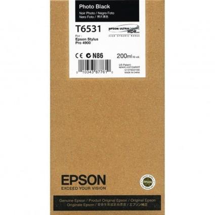 Epson T6531 tinta negro foto original