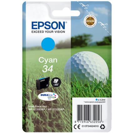 Epson 34 (C13T34624010) tinta cian original