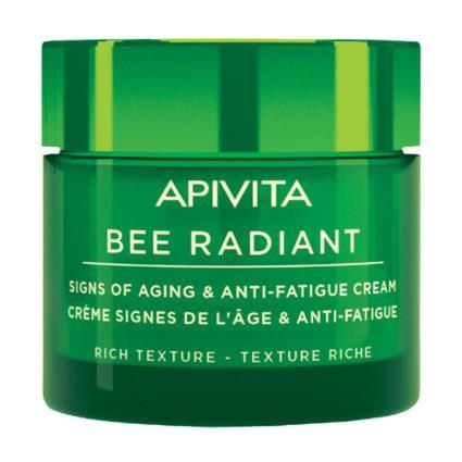 Apivita abelha radiante com extrato de própolis normal e textura rica seca casca 50ml