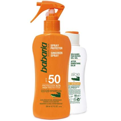Babaria Aloe FPS50 + após protetor solar spray solar