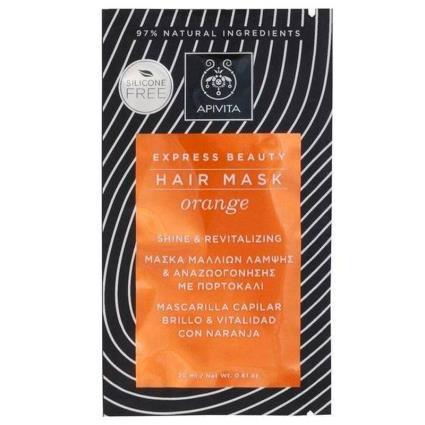 Máscara de cabelo Apivita máscara capilar revitalizante laranja 20ml