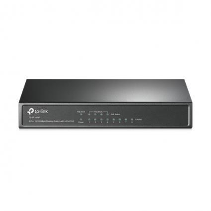 TP-LINK TL-SF1008P Não-gerido Fast Ethernet (10-100) Power over Ethernet (PoE) Preto