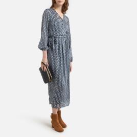 ONLY - Only Vestido comprido e estampado, de mangas compridas