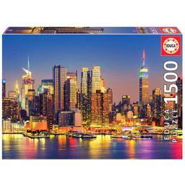 JOGOS E BRINQUEDOS KIDS - Puzzle 1500 Manhattan Noite