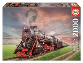JOGOS E BRINQUEDOS KIDS - Puzzle Locomotiva A Vapor 2000 Peças