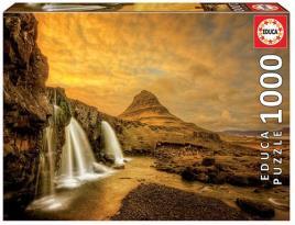 JOGOS E BRINQUEDOS KIDS - Puzzle Cascata Kirkjufellsfoss Islândia 1000 Peças
