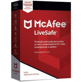 Mcafee - McAfee LiveSafe - Todos os Dispositivos - 1 Ano