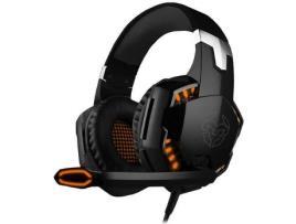 Auscultadores Gaming NOX Kyus (Com fio - Com Microfone - Preto)
