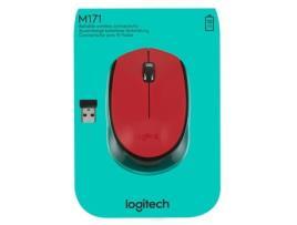 LOGITECH - Rato Wireless Logitech M171 - Vermelho