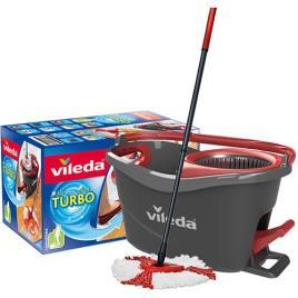 VILEDA - Sistema de Balde com Pedal e Esfregona de Microfibras Vileda Easy Wring & Clean Turbo