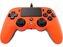 Ps4 - Comando com Fio Nancon para PS4 - Laranja