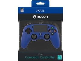 Ps4 - Comando com Fio Nancon para PS4 - Azul