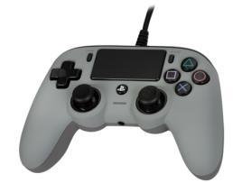 Ps4 - Nacon Comando com Fios Compact - Cinzento - PS4
