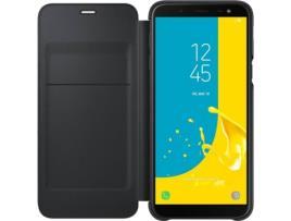 SAMSUNG - Galaxy J6 Wallet Cover EF-WJ600CBEGWW