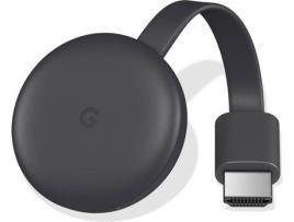 Reprodutor TV Google ChromeCast v3 1080 px WiFi 5 GHz Cinzento