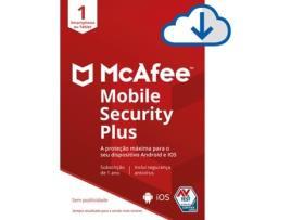 Mcafee - Software MCAFEE Mobile Security Plus (1 Dispositivo - 1 Ano - Android e IOS - Formato Digital)