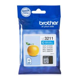 BROTHER - brother Tinteiro LC-3211, Azul Ciano, Embalagem Individual, LC-3211C