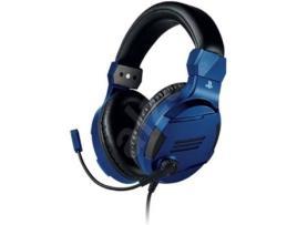 Auscultadores Gaming com fio BIGBEN V3 (PS4 - Microfone - Azul)