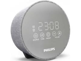 Rádio Despertador Philips DR402 - Cinzento