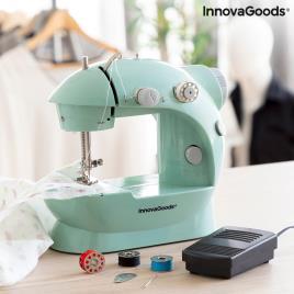 Mini-máquina de Costura Portátil com LED, Corta-linhas e Acessórios Sewny InnovaGoods