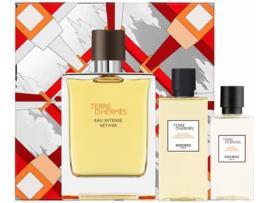 HERMES - Coffret Perfumes HERMÈS Terre D' Eau Intense Vetiver Lote 3 Un
