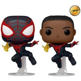 Figura Pop! Marvel Spider-Man Miles Morales Miles Clássico Chase Aleatória - FUNKO