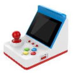 Consola Arcade c/ 360 Jogos (Azul / Branco)
